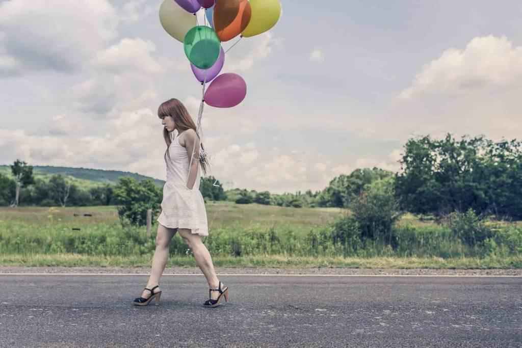 urodziny balony, dziewczyna